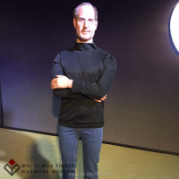 Celebrity lifesize silicone wax figure resin statue Steven Jobs