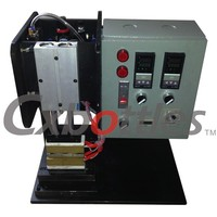 Manual stand up pouch caps packing sealing machine