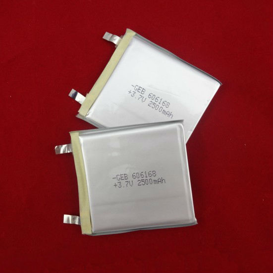 GEB606168 3.7V 2500mah lithium polymer battery for GPS