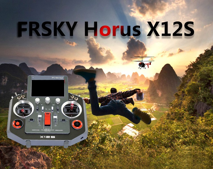 Frsky X12S 16CH Remote Control Transmitter Telemetry Real-time Data Logging Built-in GPS & 6-axis Sensors