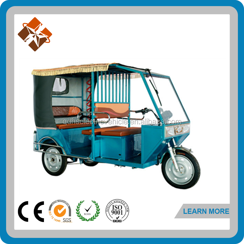 60V three wheel electric rickshaw, battery power electric tricycle India Hot