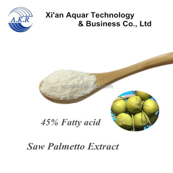 Treatment of prostatitis plant extract saw palmetto extract fatty acid 25% 45% free samples