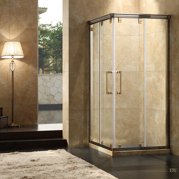 self cleaning glass SS304 Square shaped Shower Enclosures