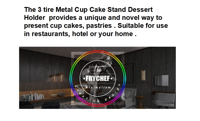 3 tire Metal Cup Cake Stand Dessert Holder , 3 Tier Serving Tray for Wedding,Party,Buffet