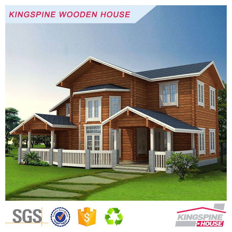 Factory price Villa Prefabricated Log Cabin Wooden House KPL-022