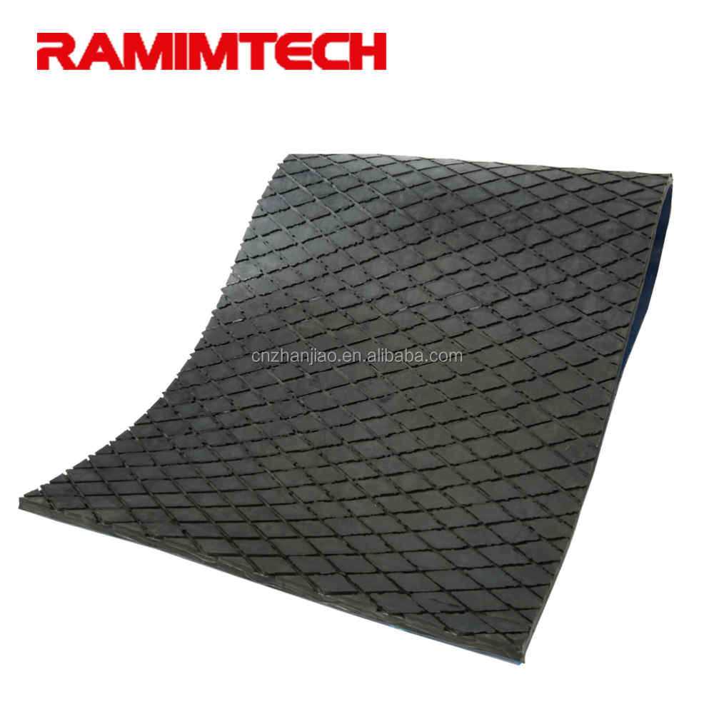 Anti slip heat resistant hard silicon adhesive backed rubber sheet for pully lagging