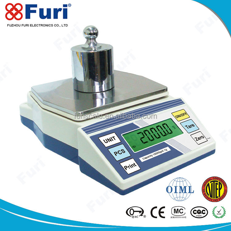 Furi High Precision Creamy/White 0.001G electronic lab analytical precision balance