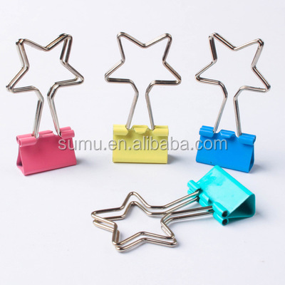 Cute Metal Quality Gold Binder Paper Clips For Photo Decoration