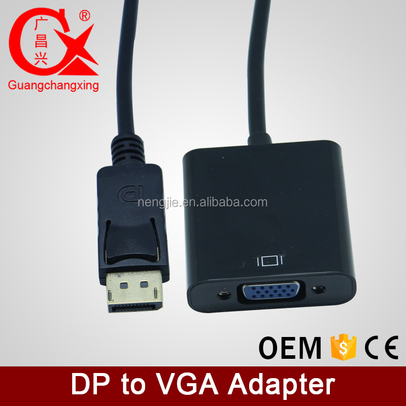 high grade support 1080p display port DP to VGA cable