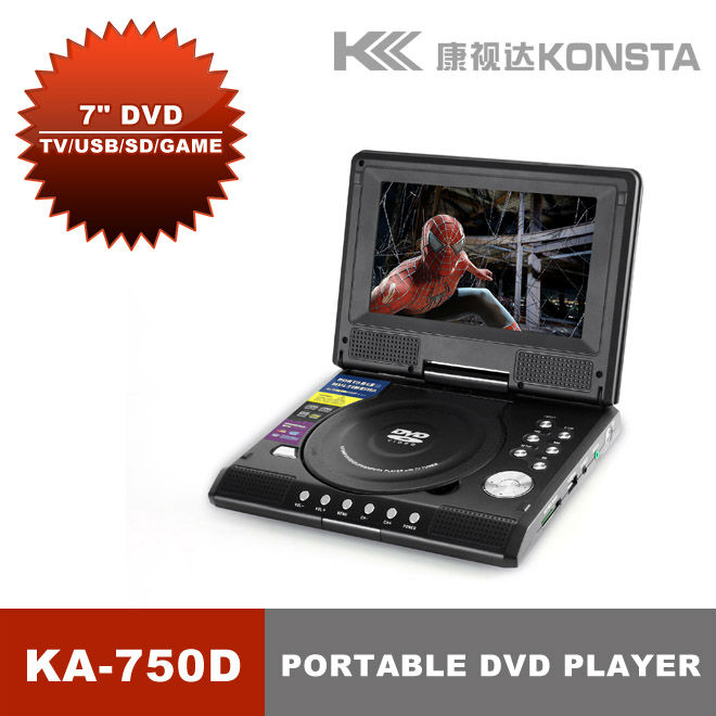 7 inch kids portable cd/dvd player wth tv tuner