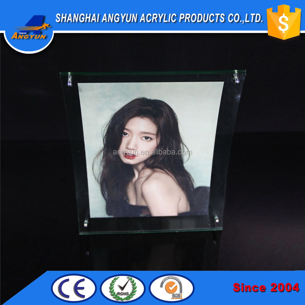 acrylic blue sixy photo/picture frame