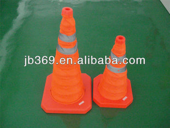 folding safety road cone with LED light