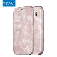 Free shipping X-Level Leather Ultra thin Flip Full Protective Phone Case Cover For Samsung S6