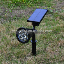 Amazon hot sale 200LM 7led solar spot light for garden with factory price