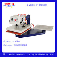 Pneumatic Heat Press Machine For T-shirts Heat Transfer Printing Double Stations Swing Heads Type