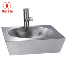 Factory Direct Sell Bathroom Stainless Steel Silver Wash Basin
