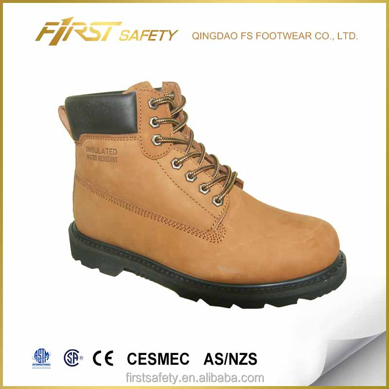 FS1020 Nubuck genuine leather rubber outsole soft toe ankle safety work boots