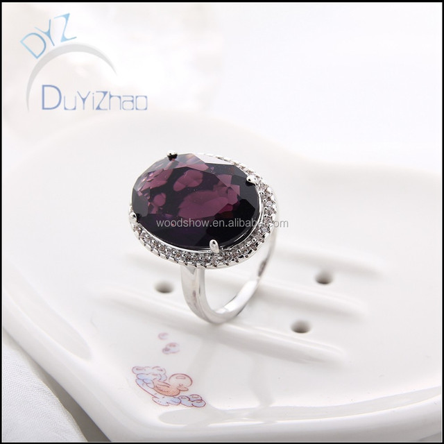 Elegant purple sapphire ring fashion jewelry