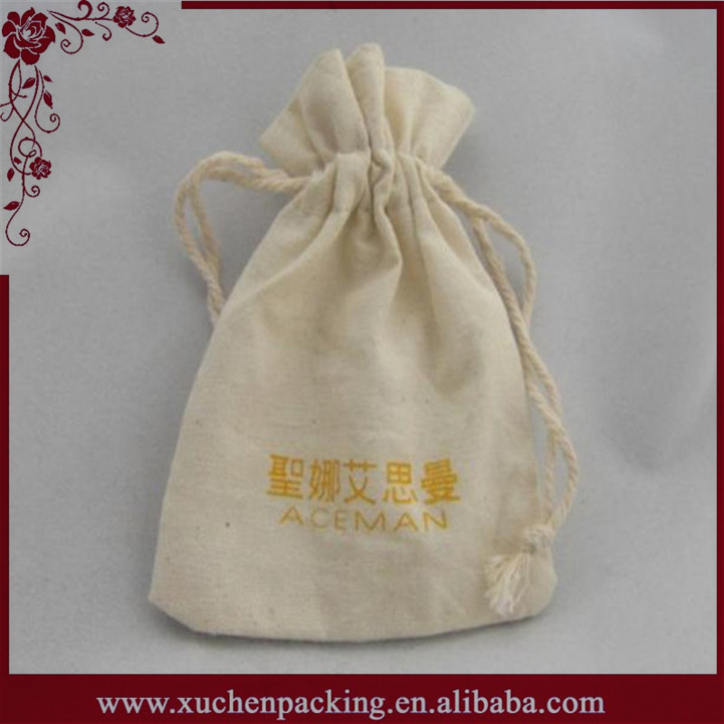 New Style Wholesale Eco Friendly Silk Drawstring Custom Printed Muslin Bags