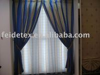 100% polyester linen look like blackout fabric door curtain