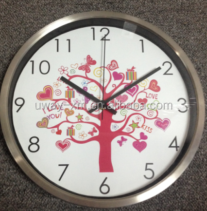 colorful digital stainless steel wall clock 12 inch