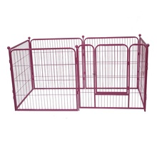 Low price heavy duty pink metal puppy pen