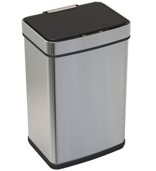 Hotel indoor standing stainless steel automatic square shape sensor dustbin