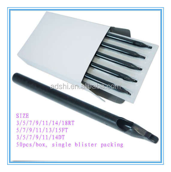 Black long tattoo tips, Professional Long Plastic Disposable Tattoo Tips