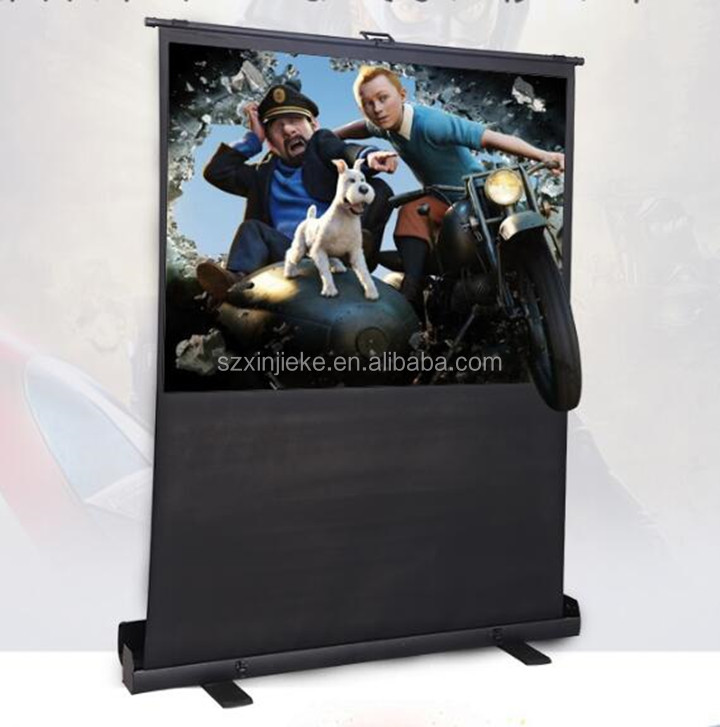 High Gain Matt White Projection Screen 100 Inch 4:3 Format Floor Standing Style Projector Screen