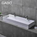 double bowl elegance artificial stone washing basin