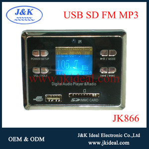 JK866 Popular fm usb led mp3 module with LCD displayer