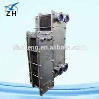 Top quality food grade sea water cooling titanium plate heat exchanger