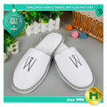 Polyester Velvet Pile Hotel Slippers / Disposable Velour Pile EVA Slippers / Durable Comfortable Terry Home Indoor Slippers