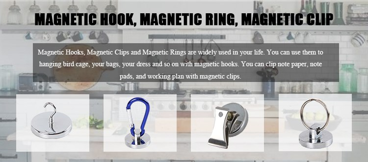Ndfeb magnets Hot Selling Super Strong Heavy Duty Pot magnet Hook Magnetic Hooks with threaded stem