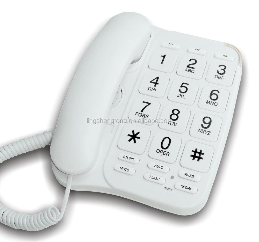 Big Button Corded Phone with Hands Free