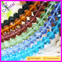 Wholesale Cheap Price Decorative Crystal Rondelle Beads Strand In Bulk