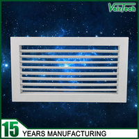 aluminum single deflection supply air grille adjustable louver shutter