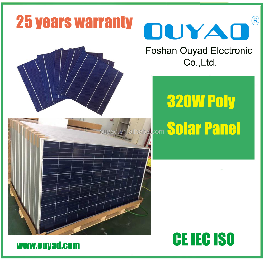 China solar panel manufacturer good quality competitive price 300W~320W poly solar panels sale to Pakistan, Afghanistan