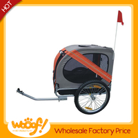 Hot selling pet dog products high quality dog bike trailer