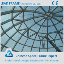 Cheap light steel frame structure tempered glass roof