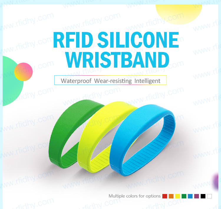 HYWGJ01 13.56MHz MIFARE Classic RFID Silicone Bracelet