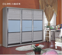 Easy to clean and assemble sliding door wardrobe bedroom design decoration in dubai