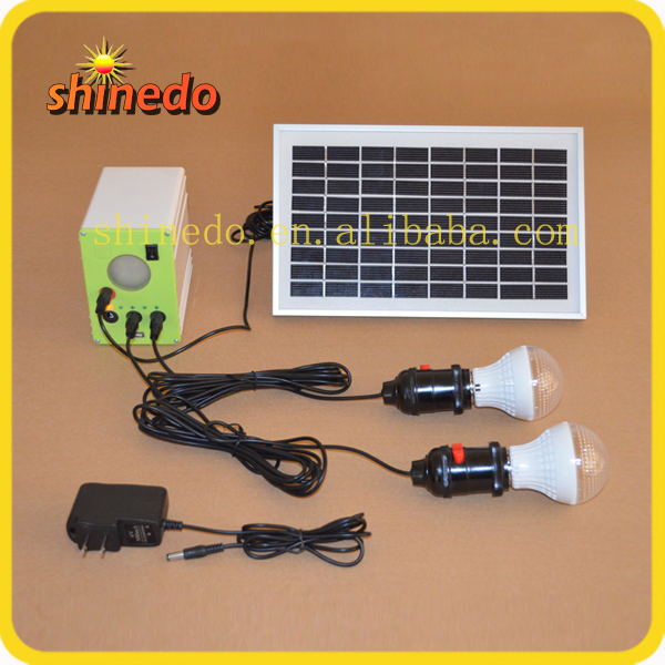 2015 new design solar home lighting system with USB interface