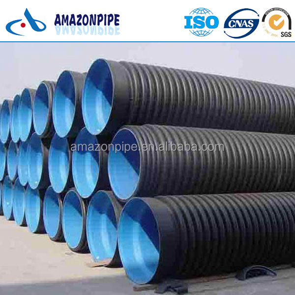 Underground buried HDPE corrugated pipe PE pipe for drainage