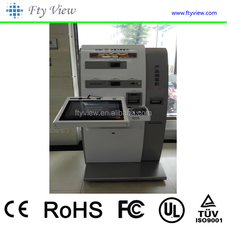 Self Service Touch Screen Kiosk Machine With A4 Printer