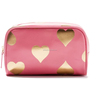 Lovely Cute Golden Hearts Printing Decoration Cosmetic Makeup Bag Organizer Case Korean Fashion