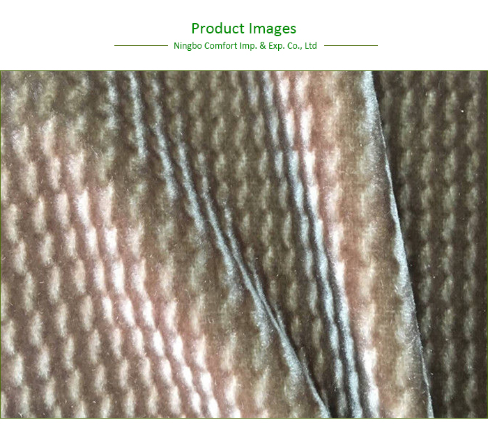 Custom Style Polyester Upholstery Velour Velvet Fabric for Car/Sofa/Garment