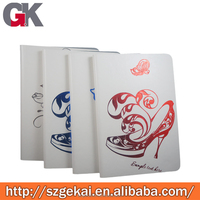 new design custom pu leather+pc case with gold stamping for ipad, OEM specification