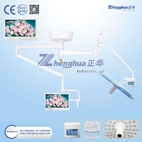 Ceiling Double Headed Surgical Lamp With Camera and LCD for Opearating Room