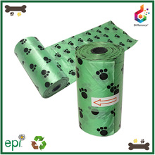 Pet supplier plastic dog bags for poop with printing